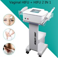 Wholesale hifu online - HIFU beauty equipment Body Slimming Face Lifting Hifu Vaginal Rejuvenation Machine with mm mm Cartridges