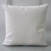 Wholesale cotton canvas pillow cover online - 30pcs x18 inches Oz Pure Cotton Canvas Pillow Case Plain Raw Cotton Embroidery Blank Pillow Cover Have Natural White Semi White Colors