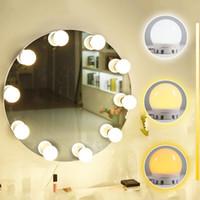 usb ışık sopa toptan satış-Hollywood LED Vanity Ayna Işık Kiti, Kısılabilir Makyaj Işıklarına Yapıştırın ,, LED Makyaj Aynası Işıkları Takımı