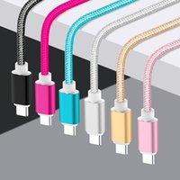 câble usb tressé en nylon achat en gros de-1.5m Câble couleurs Nylon 6 tressées v8 Câble Micro téléphone portable USB 2A Chargeur