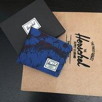 sac à main de marque homme femme achat en gros de-Herschel Marque Designer De Luxe Sacs À Main Sacs À Main Portefeuilles Hommes et Femmes Toile Bourse De Mode Unisexe Courte Pièce De Poche Carte Paquet