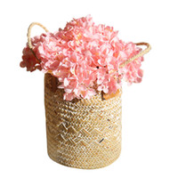 düğün merkezkaçları için ipek çiçek topları toptan satış-Yapay Ortanca Çiçek Kök Mini ile Sahte Ipek Çiçek Topu Ev Dekor Parti Süs Düğün Centerpieces Fotoğraf Sahne 10