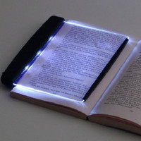luz de noche led plana al por mayor-Creativo LED caliente luz del libro de lectura la noche la luz de placa plana portátil lámpara de escritorio de coches Panel de viajes Led para el hogar cubierta habitación de los niños