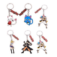 Wholesale lucy figure resale online - Anime Fairy Tail Alloy Figure Keychain Pendant Keyring Toys Lucy Alloy Keyring Collection