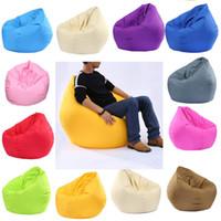 стульчики для кормления оптовых-Большой Маленький Ленивый BeanBag Диваны Чехлы на стулья без наполнителя Льняная Ткань Шезлонг Мешок Фасоли Пуф Диван Puff Гостиная