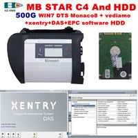 Wholesale mb star xentry diagnostic resale online - MB Star C4 Multilingual car diagnostic tool OBD2 scanner SD connector C4 with latest software DTS monaco Vediamo Xentry DAS WIS for Benz Car