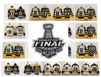 nhl boston toptan satış-2019 Stanley Kupası Finali NHL Boston Bruins Forması David Pastrnak Brad Marchand Orr Chara Patrice Bergeron Torey Krug