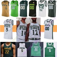 baloncesto michigan state al por mayor-Michigan State Spartans Jersey Baloncesto NCAA Winston Henry Tillman Jr. Bingham Kithier Brown Johnson Randolph Richardson verde