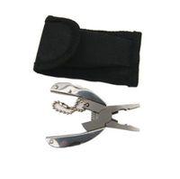 mini chaveiro de faca de bolso dobrável venda por atacado-Bolso Multi Função EDC Ferramentas Chaveiro Mini Folding Alicate Faca Chave De Fenda EDC Ferramenta de Bolso Portátil CCA11070 50 pcs
