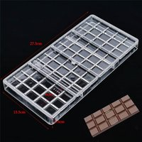 Wholesale plastic polycarbonate resale online - Real Polycarbonate Chocolate Bar Mold Eco friendly Plastic Baking Pastry Mould Cozinha Kitchen Pastry