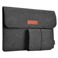 рукав для ноутбука 17 оптовых-Мягкий ноутбук сумка для ноутбука 13.3-дюймовый войлок рукав сумка защитная крышка PU чехол для iPad MacBook Air Pro Retina дисплей сумки