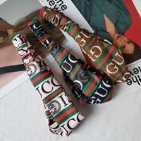 ingrosso fasce di signora-Lettera elastico signore Rosso Verde Nodo Party Band capelli delle donne seta Papillon Headwraf fascia di stampa Accessori per capelli da regalo