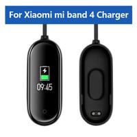 кабель usb для наручных часов оптовых-Зарядные устройства USB для Xiaomi Mi Band 4 Зарядное устройство Smart Band Браслет Браслет Зарядный кабель для Xiaomi MiBand 4 Зарядное устройство Line Аксессуары для часов