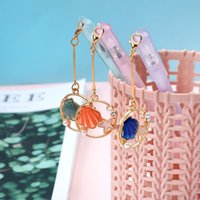 Wholesale cat stationery pens resale online - JIANWU PC mm Kawaii Cat fish shell Pendant Neutral Gel Pen For student Girls Gift Writing Office Supplies Stationery kawaii