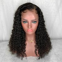 Wholesale bleached knots curly human hair resale online - My queen bob Curly Brazilian Lace Front Human Hair Wigs For Women Glueless Natural Color Bleached Knots With Baby Hair