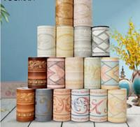 fondos de pantalla tridimensionales al por mayor-Fondos de pantalla Youman 3D Papel tapiz floral tridimensional Borde Paredes Rollo Estéreo Adhesivos de pared Sala de estar Decoración Diario Hogar