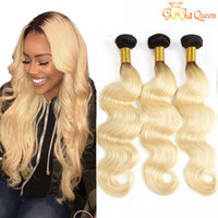 Wholesale two tone malaysian human hair for sale - Group buy Two Tone Ombre Brazilian Hair B Blonde Body Wave Human Hair Weave Bundles gagaqueen hair