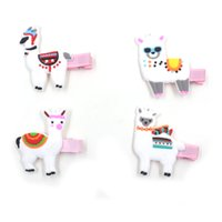 Wholesale animal shaped clip resale online - Hot Fashion Cute Alpaca Shape Hair Clip Baby Kids Barrettes Accessories Party Gifts Decor