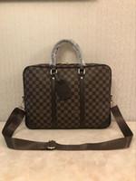 Wholesale laptop bags for sale - Group buy Men s Backpack Briefcase Three Colors Black Brown Leather Handheld Business Men s Laptop Shoulder Messenger Bag