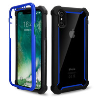 Wholesale full bumper online – custom Shatter resistant Defender Phone Case for iPhone XS MAX XR Plus PC TPU Bumper Protector Cover Cases Full Body Shockproof coque