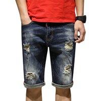 2d1aeecf42bb5 Wholesale korean men summer jeans online - 2019 new men s straight slim  jeans men s Find Similar