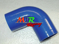 Wholesale intercooler hoses resale online - BLUE Silicone degree Elbow Hose Pipe quot inch mm turbo intercooler new