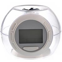 natur klingt licht großhandel-Wake Up Light Clock Digitales Schlafnachtlicht mit Kalendertemperaturanzeige und Naturgeräusch - 7 Farbwechsel