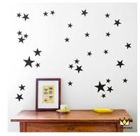 fondo de pantalla de oro al por mayor-Gold Polka stars Habitación de niños Habitación de bebés Pegatinas de pared Niños Decoración para el hogar Calcomanías de pared de vivero Pegatinas de pared para niños Wallpaper