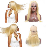 Wholesale wig color 613 for sale - Group buy Lace Front Human Hair Wigs Density Front lace wigs with hairline Natural Wave Brazilian Remy Hair Wigs With Baby Hair