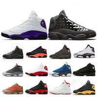 neopren kapağı toptan satış-Yeni 2019 Lakers Rakipleri 13 s Kap Ve Kıyafeti Erkekler Tasarımcı basketbol Ayakkabı 13 Atmosfer Gri O Got Oyunu Mens Trainer Spor Sneakers Boyutu 8-13