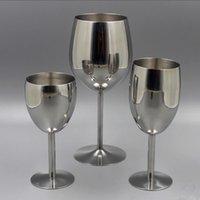 ingrosso fascini bicchieri di vino-2 pezzi classici bicchieri di vino in acciaio inox 18/8 Bicchiere Bar Wine Glass champagne cocktail Bere Charms Coppa del partito