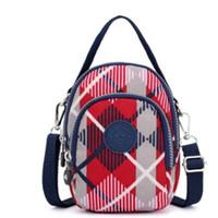 Wholesale mini square cell phone resale online - 2019 Luxury New Bag Fashion Womens Mini Square Bags Waterproof Nylon Bags Portable Shoulder Crossbody Large Capacity Oblique Fashion Handbag