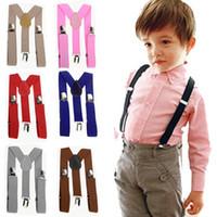 Wholesale girls harnesses for sale - Group buy Kids Adjustable Clip On Braces Boys Girls Y Back Suspender Child Elastic Harness Clip solid Suspenders baby Elasti Braces GGA2282