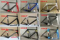 bisiklet bisikleti çerçevesi toptan satış-Colnago C64 çerçeve yol bisikleti Çerçeve karbon bisiklet Mat parlak karbon yol çerçeve 48 cm 50mm 52 cm 54 cm 56 cm