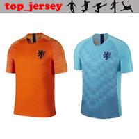 39e7b4f070449 New Holland Holanda lar laranja longe azul camisa de futebol 18 19 JERSEY  memphis VIRGIL WIJNALDUM homens thai qualidade camisas de futebol 2019