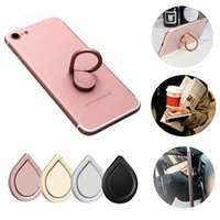 Wholesale phone handset holder online – Water Drop Finger Ring Holder Universal Mobile Phone Ring Magnetic Stander With Retail Package For iPhone Xs Max Sumsung All Handset