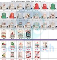 grande drawstring dom sacos venda por atacado-2020 Presente de Natal Bolsas Grande pesado ORGÂNICO BOLSAS de Santa Saco com cordão saco com renas Saco de Papai Noel Bolsas para crianças