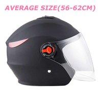 Wholesale motorcycle helmet seasons for sale - Group buy Hot sales PP plastic shell helmet Unisex motorcycle helmet for all seasons average size Anti fog lens
