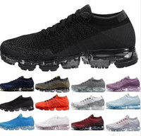 Wholesale soft shock shoes online - 2018 Rainbow Vapors Running Shoes Men Sneaker Women Sport Black White Racer Outdoor BE TRUE White Black Air Shock Hiking Athletic Shoes