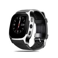 ingrosso u8 smartwatch sim-Nuovo Smartwatch Intelligente Bluetooth Sport Smart Orologio T8 Pedometro Per Telefono Android Da Polso Supporto SIM Carta di Credito Chiamata pk DZ09 U8 Q18