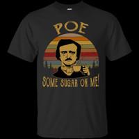 siyah şeker toptan satış-Bana Poe Bazı Şeker Vintage G200 Siyah Pamuk Erkekler T-Shirt Tarzı Yuvarlak Stil tshirt