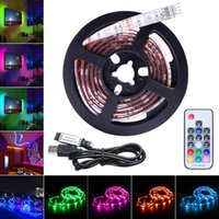 Wholesale rgb led strip colorful for sale - Group buy LED Strip Lights RGB USB Powered V SMD LED Light Strips Backlight with Remote Control for TV Background Lighting PC Notebook Home
