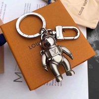 anahtarlık lüks toptan satış-Marka yeni moda marka anahtarlık alaşım astronot tasarım lüks araba anahtarlık moda marka çanta aksesuarları
