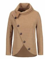 зимняя одежда для женщин размер оптовых-Женщины трикотажные пуловеры с длинным рукавом О шеи Твердая девушка пуловер Топы Блузка рубашка пуловеры женщин зимы одежды Плюс Размер 4XL