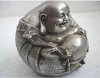 Wholesale tara statue for sale - Group buy rare luck tibetan silver smile buddha statue Tara Buddha Chinese Tibetan Copper