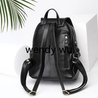 Wholesale men british backpacks for sale - summer new fashion trend backpack Europe and the United States British style leather men and women designer black travel outing