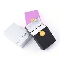 держатель для сигарет оптовых-20шт пластиковый портсигар сигареты дым держатель для хранения табака коробка портативный экологический портсигар MP171