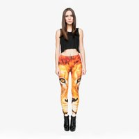 Wholesale girls wearing yoga pants online - Lady Leggings Lion D Digital Full Printed Stretchy Yoga Wear Pants Girl Full Length Pencil Fit Woman Elastic Waist Band Trousers Y29526