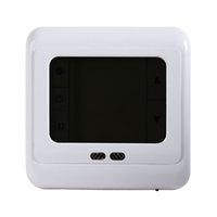 Wholesale room thermostat controller resale online - Freeshipping Programmable Thermostat Room Underfloor Heating System Temperature Controller LCD Touch Screen With White Blue Green Backlight