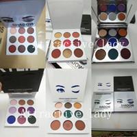 novos estilos de sombra venda por atacado-Nova maquiagem de alta qualidade da paleta da sombra 9 moda cor 6 estilos paleta de sombras Epacket frete grátis
